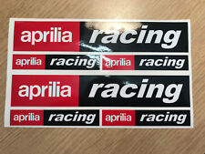 6x Aprilia racing stickers decals set Motorcycle Scooter graphics.
