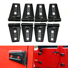 Door Hinge Covers Protector Black Kit For Jeep Wrangler Jk Jku 2007-17 Accessori (Fits: Jeep)