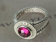 DAVID YURMAN Cerise Ring with 8mm Tourmaline  and Diamonds, Size 8