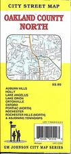 City Street Map of Oakland County, North, Michigan, by GMJ Maps