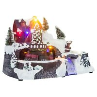 LED Light Up Christmas Festive Village Illuminated Decor Town Decoration Scene