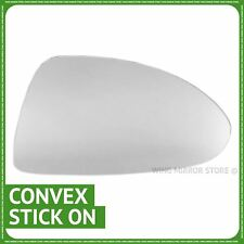 Right Driver Side wing door mirror glass For Vauxhall Corsa D 2006-14 Stick On