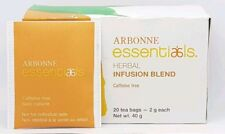 Arbonne Essentials Herbal Infusion Blend 20 Tea Bags Caffeine Free Vegan