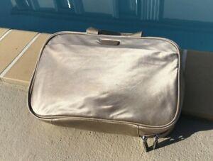 Tumi BEIGE SATIN ZIP AROUND TOILETRY MAKE UP CASE TRAVEL BAG