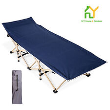 Folding Bed Camping Cot, Portable Folding Bed Suitable Camping Cot, Navy