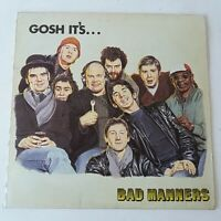 Bad Manners - Gosh It's... - Vinyl LP UK 1st Press + Poster EX/NM Textured Slv