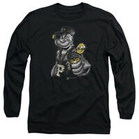 Popeye Eating SPINACH POWER Licensed Adult T-Shirt All Sizes