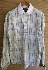 New Steve Harvey Collection Men's Button Down Shirt 17 1/2,44 Flip cuff