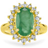 Certified 3.60cttw Emerald 0.70cttw Diamond 14KT Yellow Gold Ring