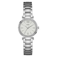 NEW GUESS WATCH Women * Silver Case / Band *Silver Dial* Crystal Accents U0767L1