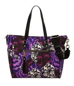 NWT Marc Jacobs Trooper Tapestry Purple Nylon Baby Diaper Bag Tote New $350