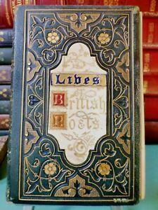 LIVES of the BRITISH POETS 1870 Writings NIMMO Livre POÈTES ANGLAIS EO Rare Book