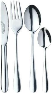 Masterclass Children's Kids 4 Piece Cutlery Set Stainless Steel Silver Dining