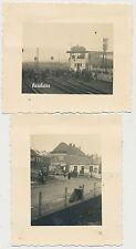 2 x Foto Frankreich Lille gare Bahnhof -Umgebung  2.WK (5314)
