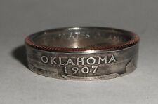 """""""Sealed"""" OKLAHOMA US STATE QUARTER handmade coin ring or pendant size 4-14"""