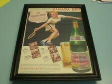 1943 CANADA DRY GINGER ALE FRAMED COLOR AD PRINT
