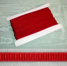 Elastic Lingerie Strapping - Red  12mm x 5 metes