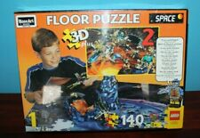 Vintage Lego 3-D Floor Puzzle Space- RoseArt -Brand New