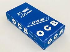 OCB blau kurz Zigaretten-Papier der Klassiker, 25 Heftchen je 50 Blatt, blau NEU