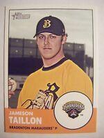 JAMESON TAILLON RC 2012 Topps Heritage Minors baseball card #19 QTY PIRATES 2011