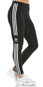 ADIDAS Original's Women's Leggings Black 3 Stripe Trefoil M