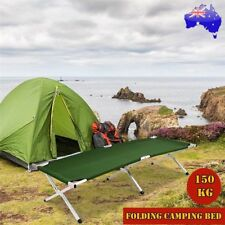 Folding Camping Bed Stretcher Light Weight Camp Portable Carry Bag Foldable Bed