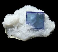 31.4g Rare Transparent Blue Cube Fluorite Mineral Crystal Specimen/China