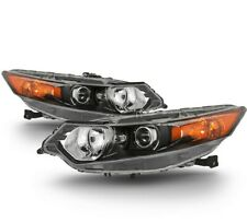 Fit 09-14 Acura TSX Replacement Headlights Base Touring *Factory HID Model*