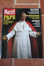 paris match n°1585 hallyday patrice martin gainsbourg le pape jean paul 2 II