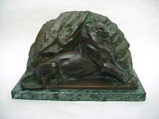 "Wonderful French Bronze Statue by Auguste Bartholdi  ""Lion of Belfort"" 5 kgrams."