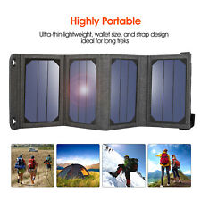 DE 5V Faltbar Solar Panel Solarmodule USB Akku Ladegerät Extern Power Bank Handy