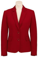 Busy Burgundy Red Ladies Suit Jacket Blazer