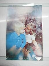 Vintage 1971 FIRST LOVE Poster Mark Boppos Litho by Graham Printing Frank Kay