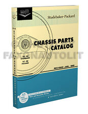 1955 1956 1957 1958 Studebaker Mechanical Parts Book Chassis Part Catalog
