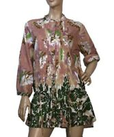 GEISHA GIRL SIZE L COTTON FLORAL TUNIC TOP