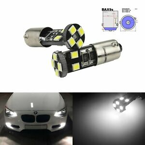 Canbus BAX9s H6W LED Sidelight DRLParking Light Bulbs For Audi VW Benz BMW Alfa