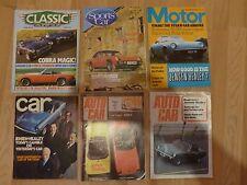 lot de 6 magazines automobiles avec des articles sur les JENSEN - HEALEY