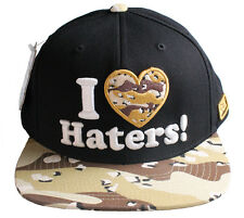 DGK Dirty Ghetto Kids Motivation I Love Haters Camouflage Snapback Baseball Hat