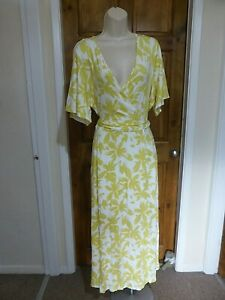 Pretty yellow and cream floral maxi dress from M&S size 16