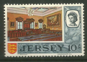 GB  JERSEY  QE2  1969  SG28  10/-  ROYAL COURT  UNMOUNTED MINT