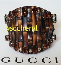 / Brace Size Med Bling Guc 00004000 Ci Bamboo Sparkling Faceted Crystal Cuff