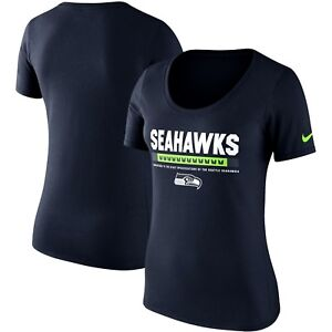 Seattle Seahawks Womens Nike Cotton Team Scoop T-Shirt - Medium - NWT