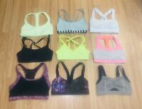 NWOT LULULEMON ATHLETIC RUNNING VARIETY Strappy COLORS/ STYLES SPORTS BRAS SZ 4