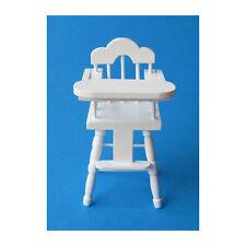 Creal 27641 Miniature Chaise haute blanc Bois 1:12 pour maison de poupée ! #