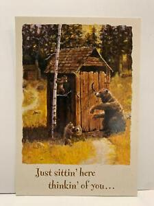 """New LOT 6 VINTAGE Leanin' Tree THINKING OF YOU """"Knock Knock"""" by Bill Bender"""