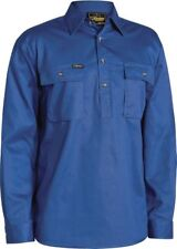 SPECIAL!! BISLEY WORKWEAR CLOSED FRONT COTTON DRILL SHIRT LONG SLEEVE (BSC6433)