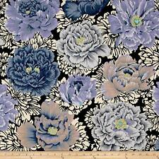 KAFFE FASSETT FLOWER Fabric Fat Quarter Cotton Peony Grey Lilac