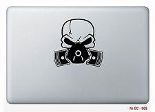 "1 pc Skull Gas Mask Sticker Skin White Macbook air 13"" Decal Vinyl Die cut"