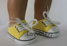 Sunshine Yellow Sneakers for 18 inch Doll Shoes American Girl or Boy Wow Variety