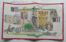 "Billy The Kid paper placemat or art poster (10 x 16.25"") circa 1970's"
